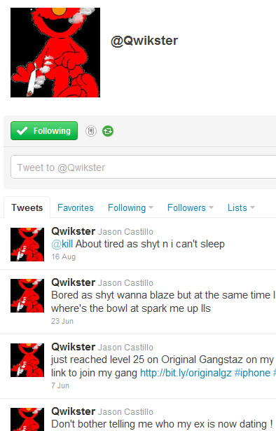 Oops: Pot-Smoking Elmo Already Claimed @Qwikster On Twitter