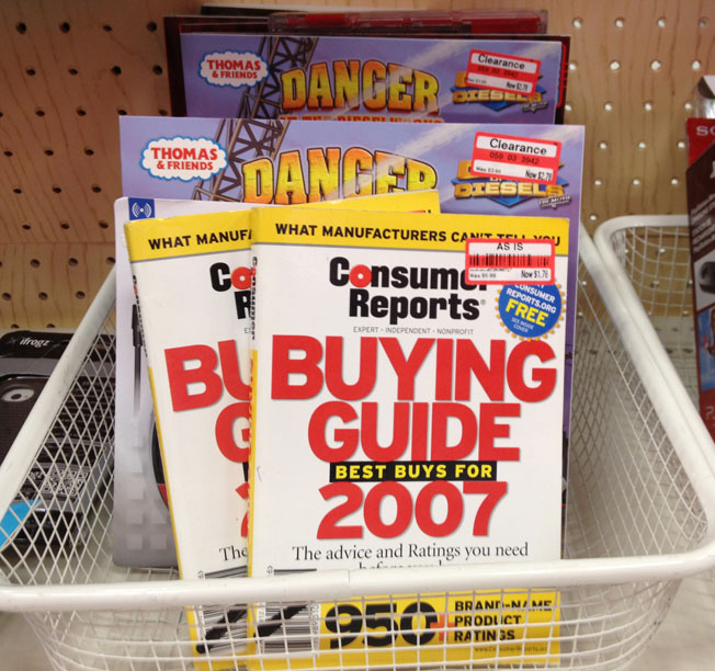Here's A Great Deal On 2007 Consumer Reports Buying Guides