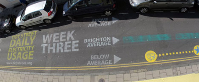 Block Cuts Electricity Use By 15% By Chalking Meter Readings On Street