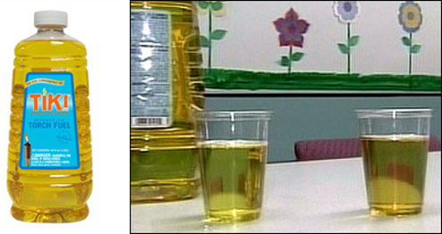 Actually, The Lamp Oil Looked Like Apple Juice