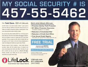 After Posting SS# In Ads, Lifelock CEO's Identity Stolen 13 Times