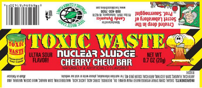 "When You Call A Candy Bar ""Toxic Waste,"" You Probably Shouldn't Be Shocked It Has Lead In It"