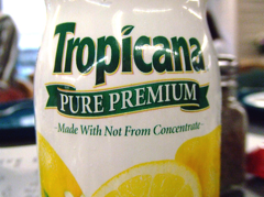 Lawsuit Puts The Squeeze On Tropicana Orange Juice's Claim Of 100% Natural