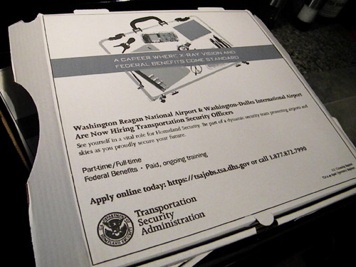 Like Pizza? Maybe You Should Work For The TSA