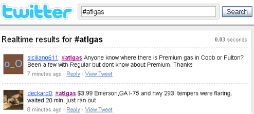 Desperate Atlantans Use Twitter To Find Gas