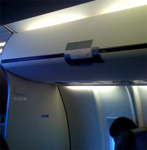 How Long Does It Take United To Get A Maintenance Crew To Fix Something With Duct Tape?