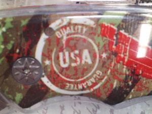 Knife Printed With 'USA Quality Guarantee' Is, Of Course, Made In China