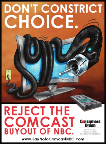 Consumers Union Asks You To Say No To Comcast/NBC Deal