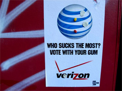 Who Sucks The Most, AT&T Or Verizon? Vote With Your Gum