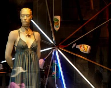 Saks' Dumpster-Dived Window Displays