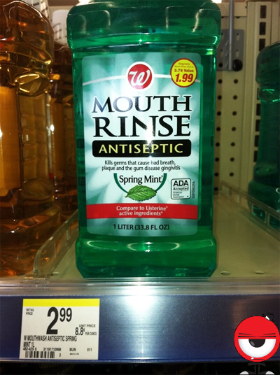 Walgreens Thinks $1.99 Mouthwash Is Worth $2.99