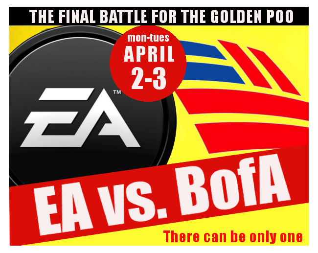 Worst Company In America Final Death Match: Bank Of America Vs. EA