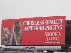 Vodka Company Rationalizes How This Billboard Does Not Reinforce An Ugly Stereotype