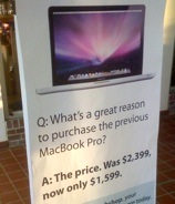 Computer Store Ad Uses Picture Of New MacBook Pro To Sell Old Ones