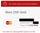 Microsoft Zombie-Bills Expired Credit Card For Xbox Live