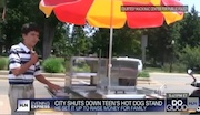 13-Year-Old Aspiring Hot Dog Vendor Shut Down By City, Sells Cart At A Profit