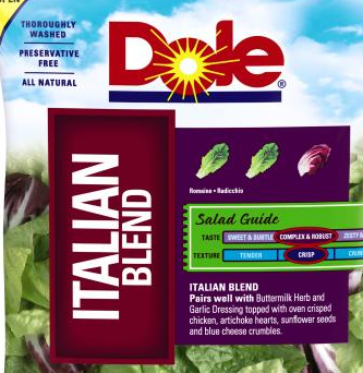 "Dole Recalls More ""Italian Blend"" Bagged Salads Because Listeria Is Not Terribly Appetizing"