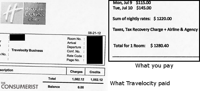 Holiday Inn Sends Me Wrong Receipt, Reveals How Much Of A Discount It Gives To Travelocity