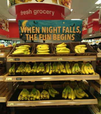 Perhaps Grocery Store Should Reconsider This Sign's Placement