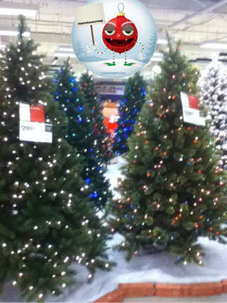 Just In Time For Labor Day: Christmas Trees At Sears