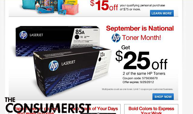 Have You Finished Buying All Your 'National HP Toner Month' Gifts Yet?