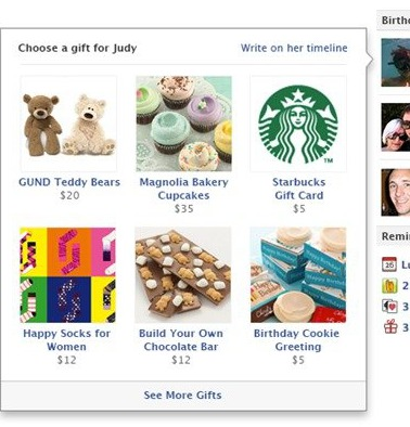 Facebook Hopes You Want To Back Up Your Boring 'Happy Birthday' Messages With Actual Boring Gifts