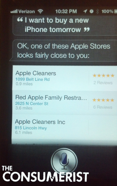 Siri's Definition Of An Apple Store Is Very Generous