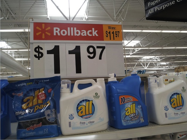 Walmart Apparently Feels Rollback Is The Same Thing As Rolling Absolutely Nowhere