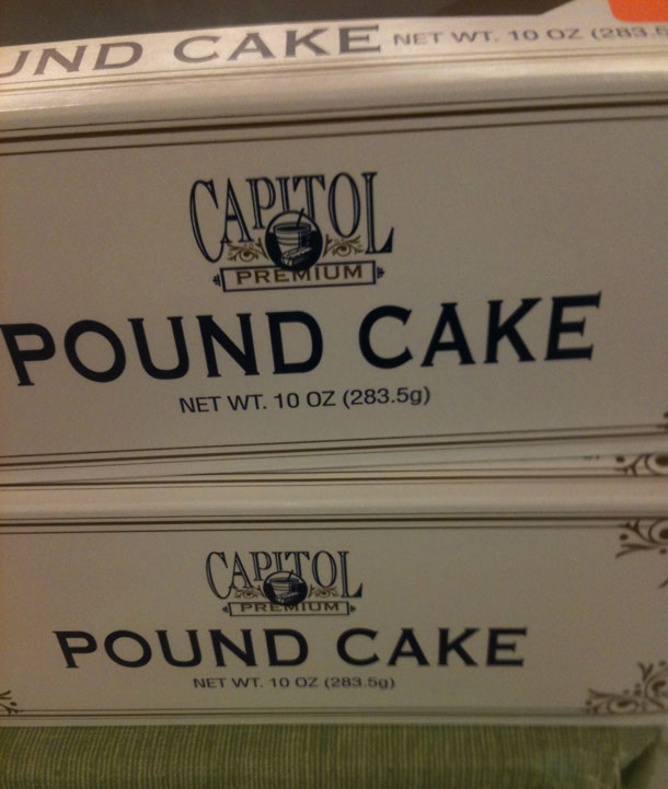 A 15-Ounce Pound Cake Isn't A Case Of Grocery Shrink Ray