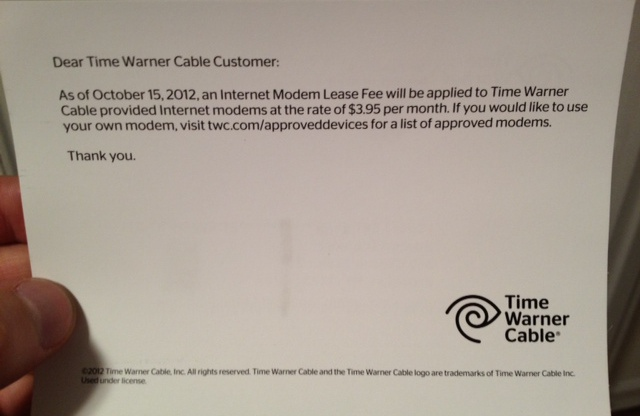 Modem – Time Fee Cable's Suits Consumerist Filed Warner Two Class-action Over Rental