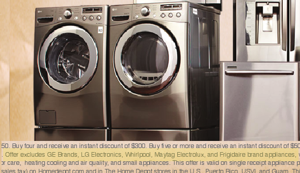 Home Depot Uses Lg Appliances To Advertise Deal That