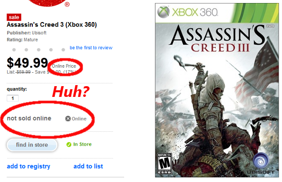 Target.com doesn't actually want to sell you this game.