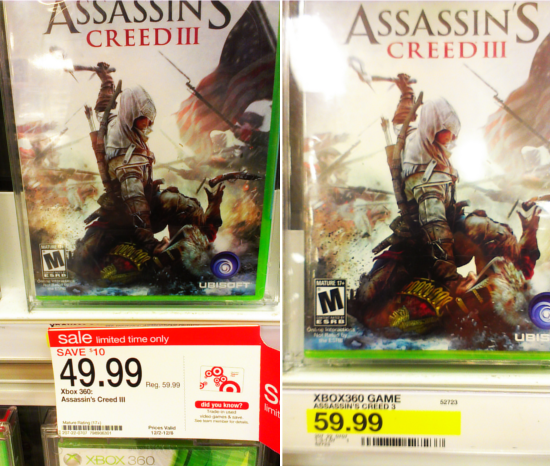 One game, two prices. Obviously a Templar conspiracy.