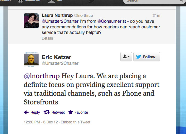 Charter Ends Twitter And Facebook Customer Support
