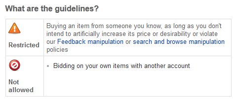 Should Sellers Friends Family Be Allowed To Place Bids On Ebay Items Consumerist