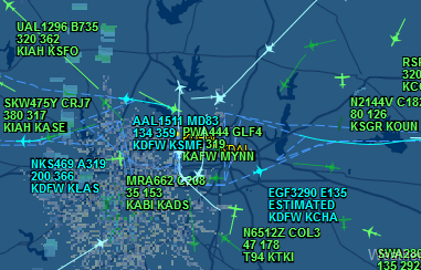 KDFW in Texas is experiencing major weather-related delays and cancellations.
