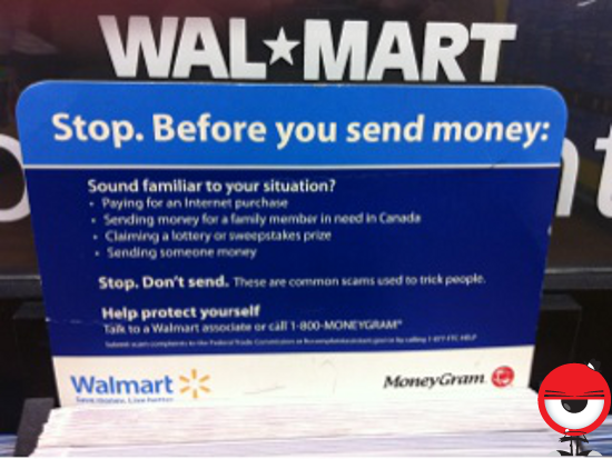 Walmart says you might want to think about sending someone money if sending someone money is the reason you are sending someone money.