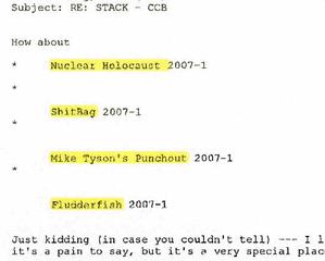 Nuclear Holocaust Amp Sh Tbag Among Clever Names Morgan