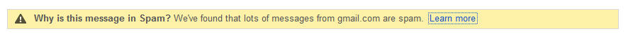 Gmail Decides That Gmail Messages Are Spam