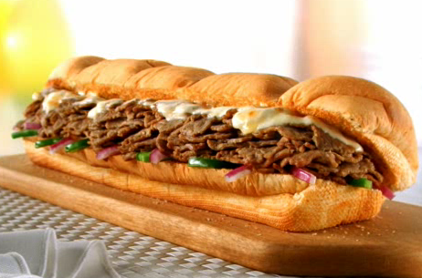 This is Subway's version of the cheesesteak.