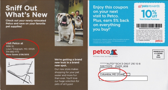"Petco may not understand that all the states beginning with ""M"" are located near each other."