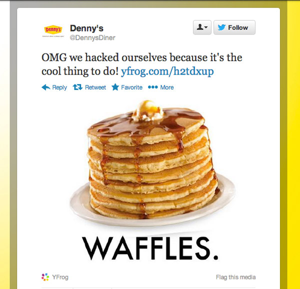 Denny's Wants To Be Like All The Cool Companies, Pretends To Get Hacked