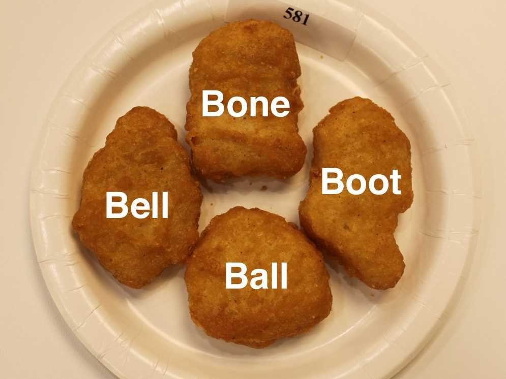 McDonald's Has Names For Each Of The 4 Different McNugget Shapes
