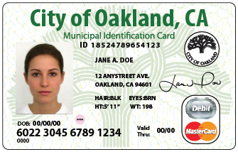 A sample of the new ID card.
