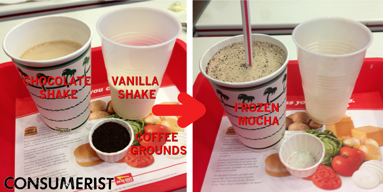 "The man behind the infamous Mc10:35 has tossed some coffee grounds into his In-N-Out shake to create the ""Frozen Mocha"""