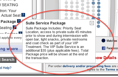 Beware of expensive venue specific add ons when buying tickets ticketmaster and bank of america theatre dont include this mandatory 35 add on m4hsunfo