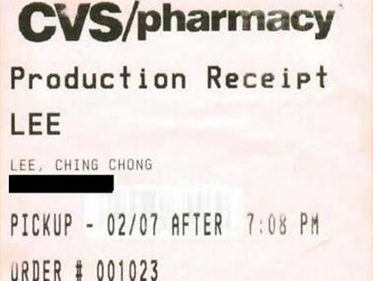 "Customer Sues CVS For Writing Her Name As ""Ching Chong"" On Receipt"
