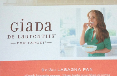 Target Recalls 150,000 Giada De Laurentiis Lasagna Pans Because Lasagna Should Not Result In Lacerations