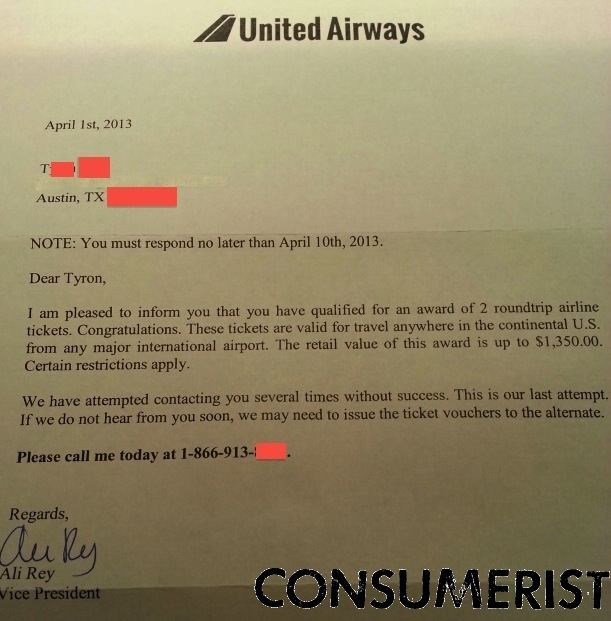 No You Didn T Earn Two Free Travel Vouchers From United Airways