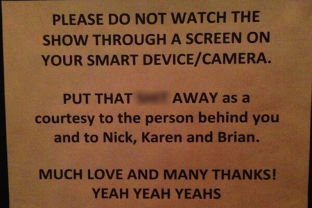 Yeah Yeah Yeahs Ask Concertgoers To Say No No No To Using Their Phones During Show